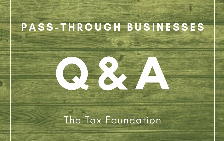 Pass-Through Businesses Q&A