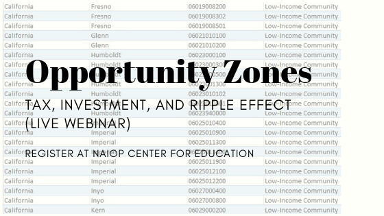 Opportunity Zones: Tax, Investment, and Ripple Effect (Live Webcast)