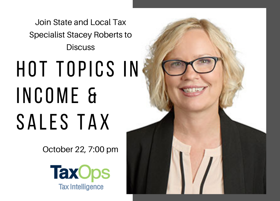 Stacey Roberts discusses current income and sales tax issues