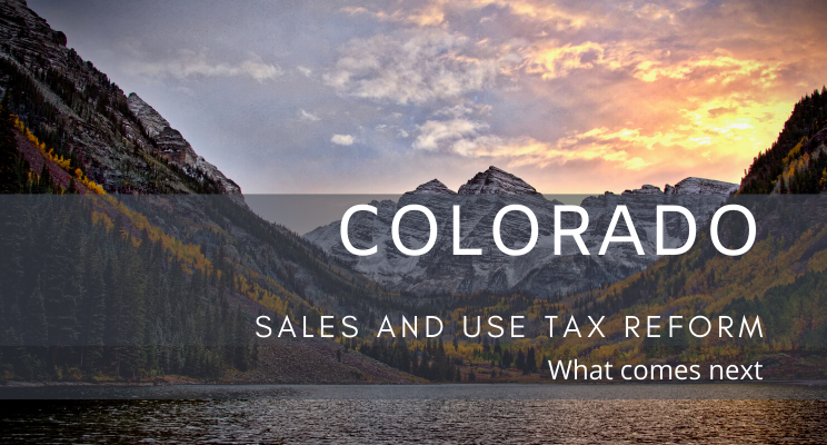 Briefing on Sales and Use Tax Reform in Colorado