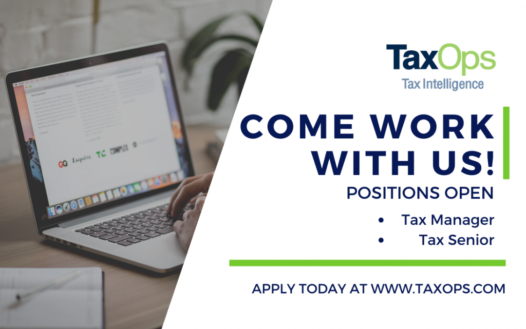 Join the TaxOps Team!