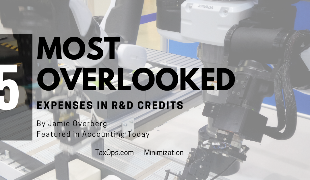 5 Most Overlooked Expenses in R&D Credits