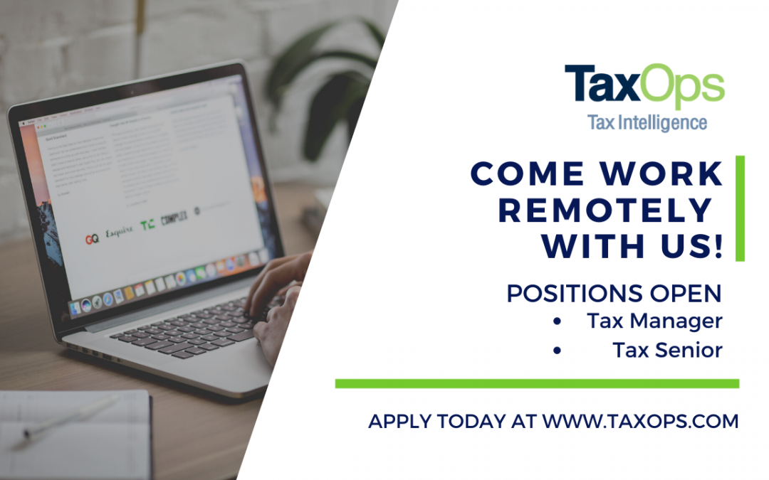 A Callout to Experienced Tax Professionals: Come Work Remotely with Us!