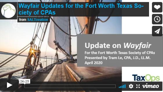 Wayfair Updates for CPAs