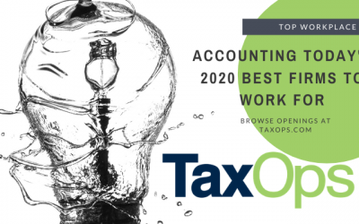 TaxOps named a 2020 Best Firms to Work For by Accounting Today