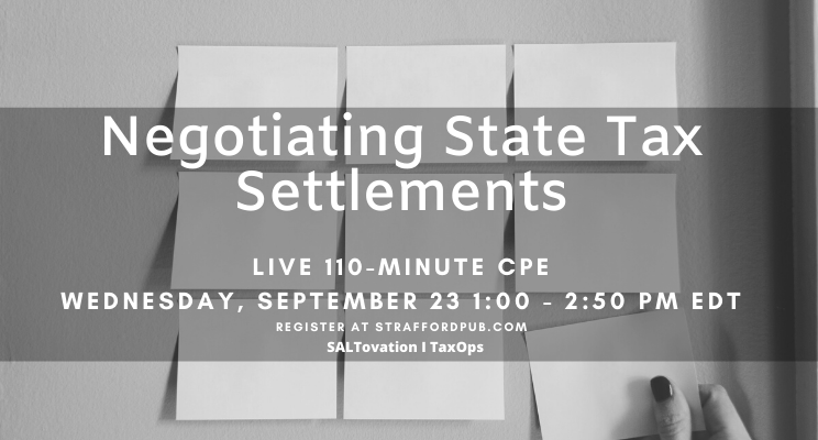 Negotiating State Tax Settlements: VDA, Amnesty, and Audit Strategies CPE