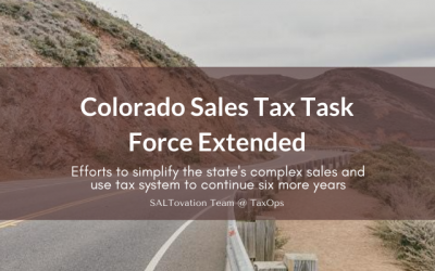 Colorado Sales Tax Task Force Extended