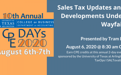 Tram Le to deliver sales tax updates under Wayfair at UTA CPE Day