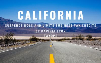 California NOL suspension and business tax credit limitation