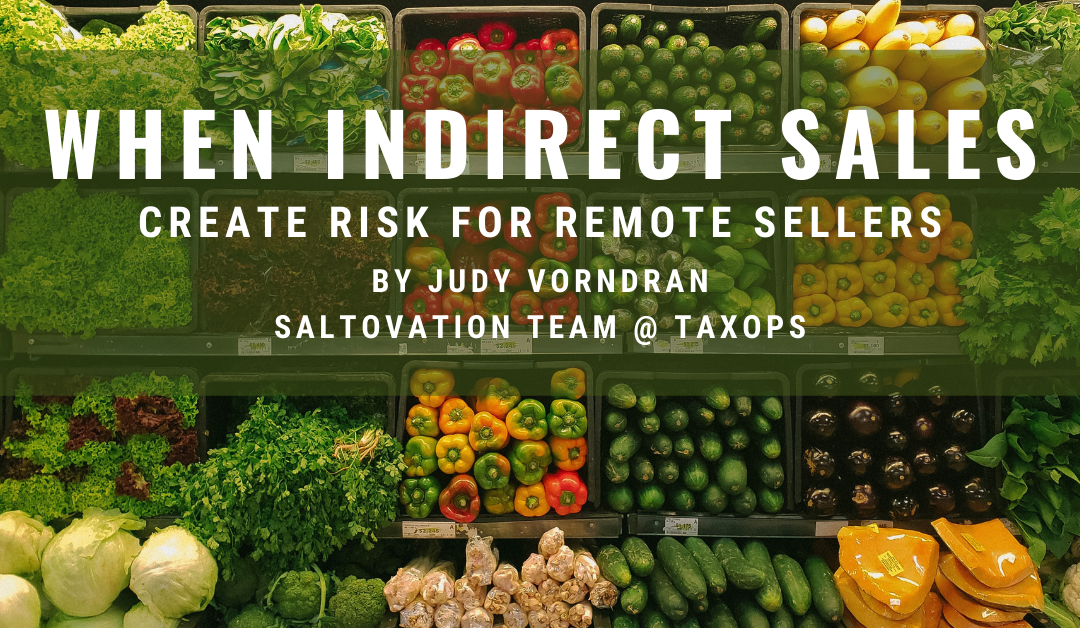 Avoid indirect sales tax duties when dealing with marketplace facilitators