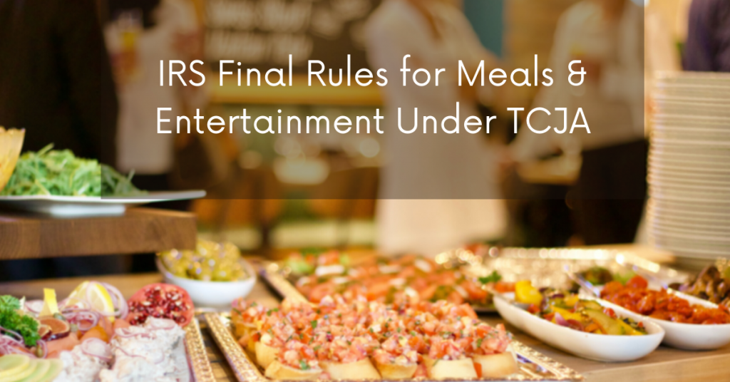 Food buffet, with titling, Final regulations clarify entertainment and meal deductions