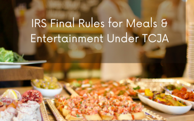 Final regulations clarify entertainment and meal deductions