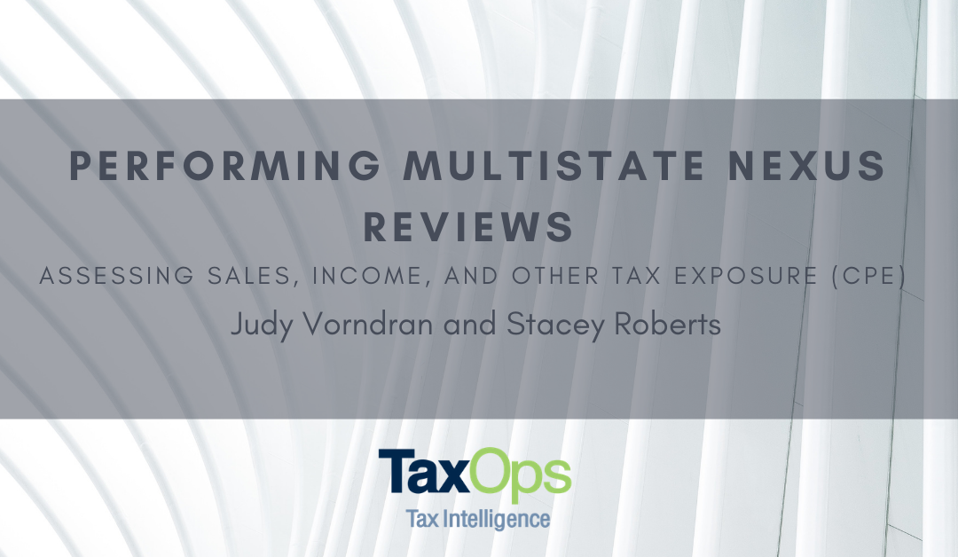 Performing Multistate Nexus Reviews (CPE)