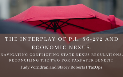 The Interplay of P.L. 86-272 and Economic Nexus (CPE)
