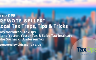"""Remote Seller"" Local Tax Traps, Tips & Tricks (Free CPE)"