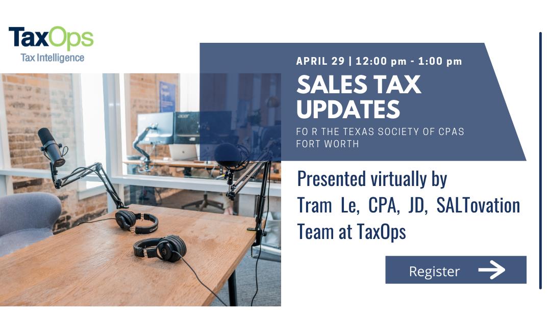 Tram Le to Present Sales Tax Updates April 29