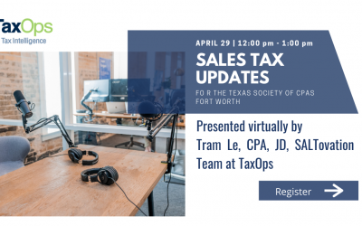Tram Le to Present Sales Tax Updates April 29