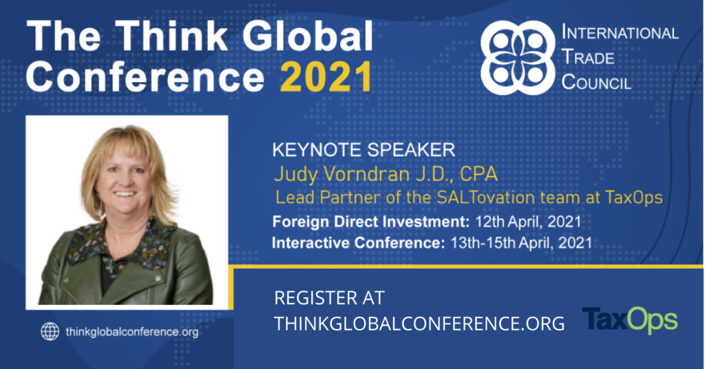 Judy Vorndran at Think Global Conference