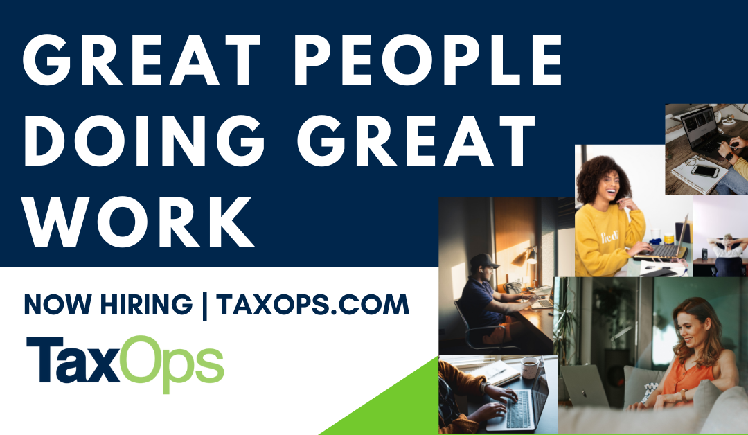 Now Hiring: Tax Senior State and Local Tax