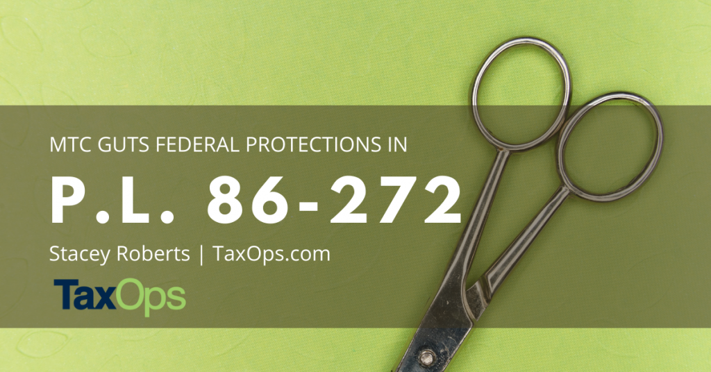 Scissors demonstrating MTC Guts Federal Protections for Remote Sellers in Wake of Wayfair