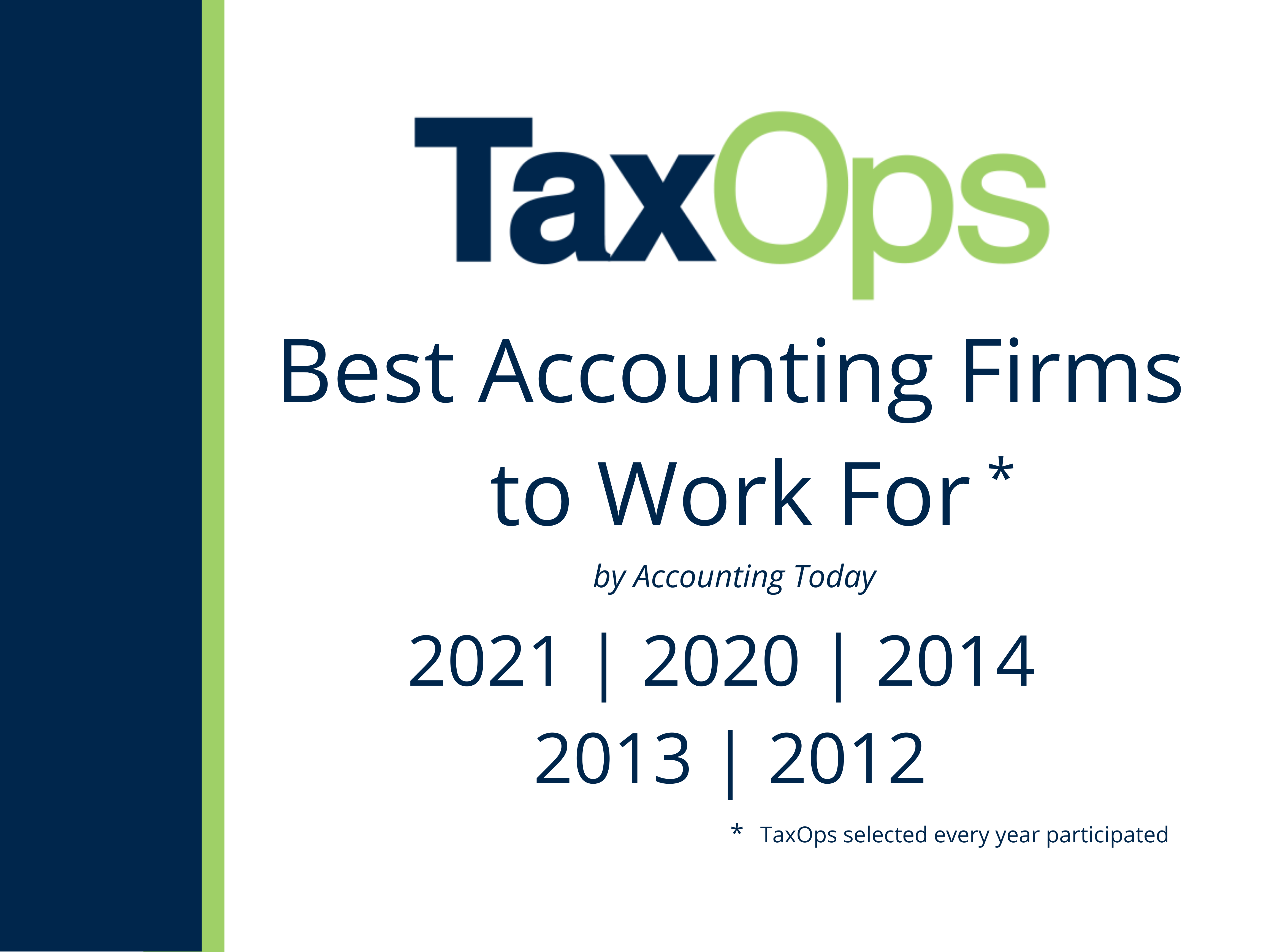 TaxOps selected as a Best Accounting Firm for Work For