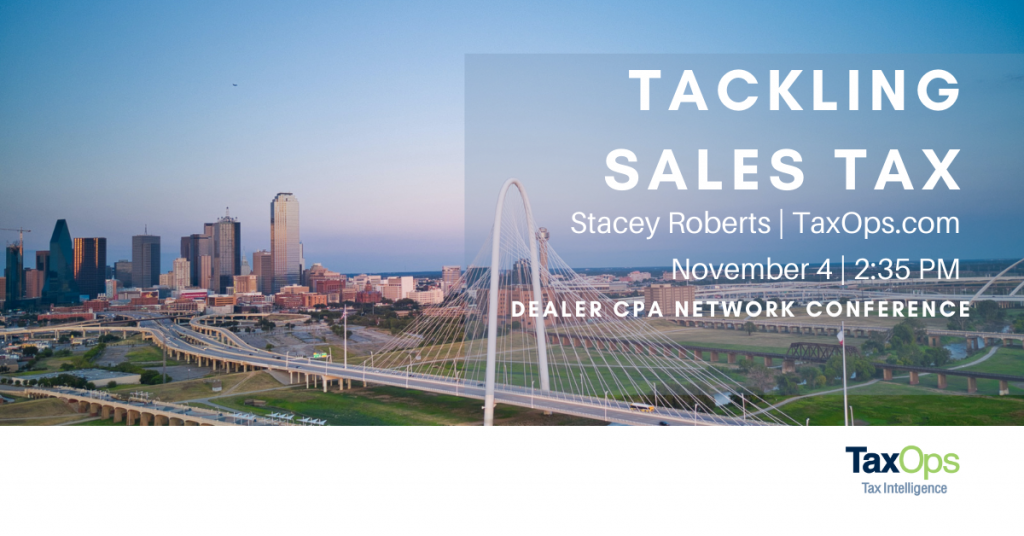 Dallas Dealers Conference, city shot, with Stacey Roberts