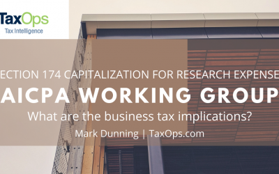 Mark Dunning Joins AICPA Panel Assessing Capitalization of R&D Expenses