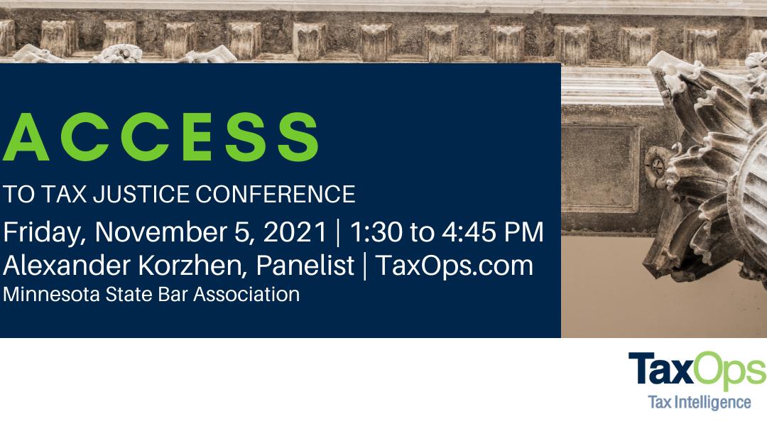 Alexander Korzhen to speak at Access to Tax Justice