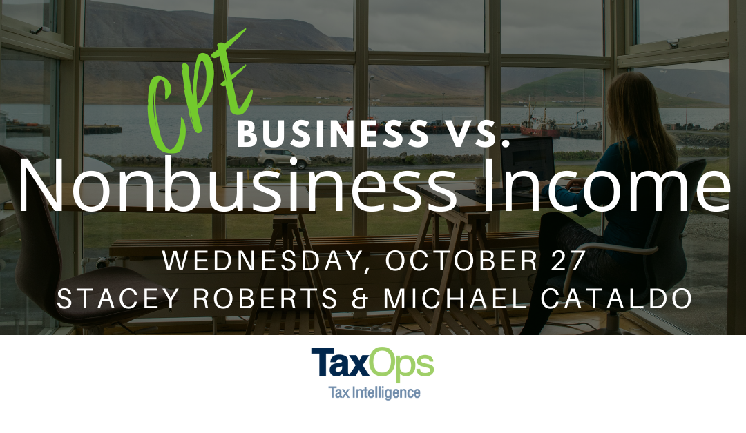 Business vs. Nonbusiness Income CPE: When to Allocate and When to Apportion